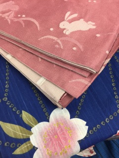 up close yukata and obi